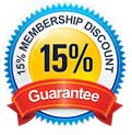 15% Membership Discount Guarantee